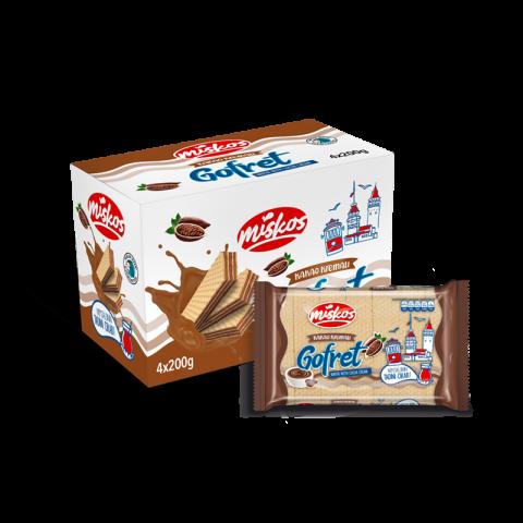 Kakao Kremalı Gofret (4x200g)