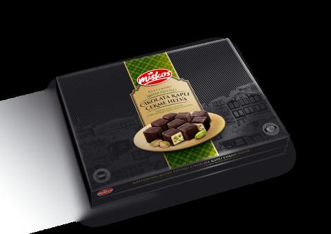 Çikolata Kaplı Antep Fıstıklı Çekme Helva 360g
